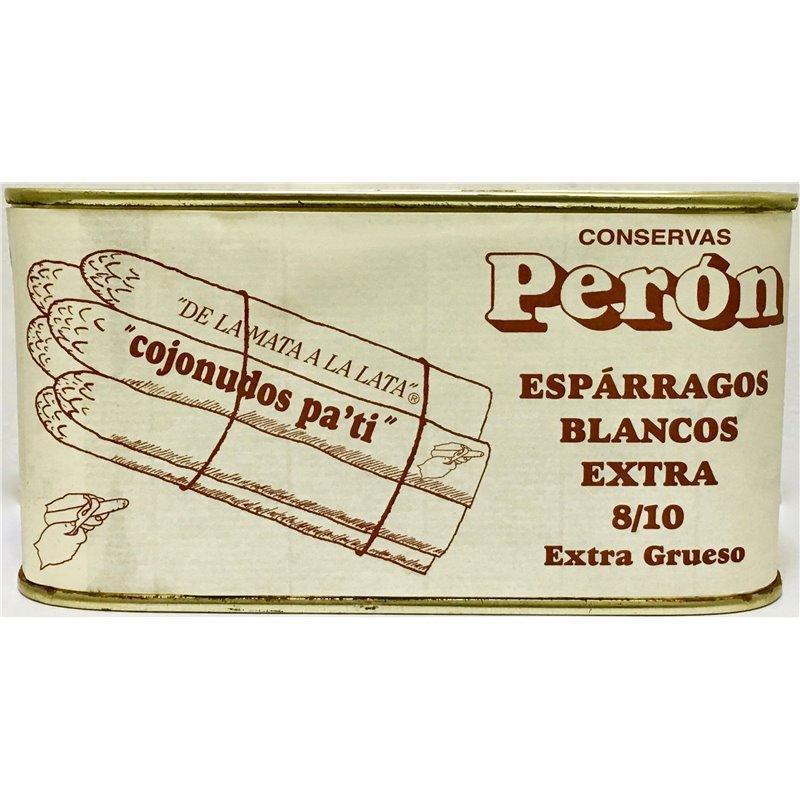 Espárragos Extra Grueso 8/10 D.O. Navarra. Conservas Perón.