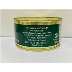 Paté con Pimiento de Espelette 190 gr. Pierre Oteiza