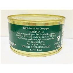 Paté de Foie a la Fine Champagne(Coñac) 190 gr. Pierre Oteiza