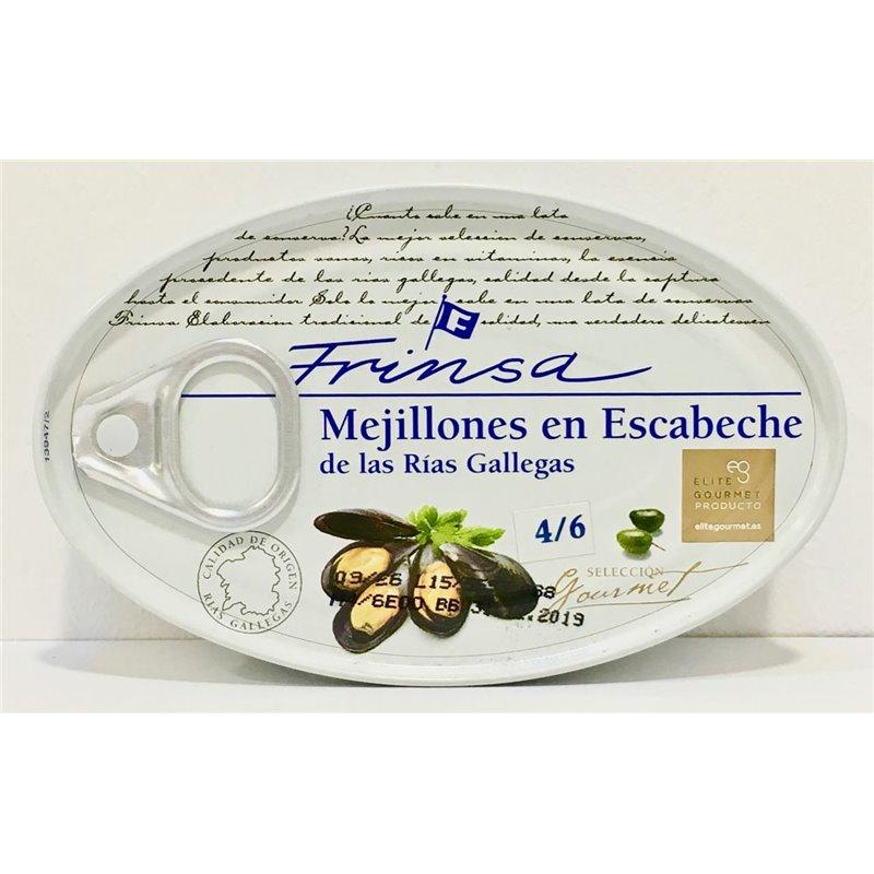 Mejillones en Escabeche 4/6 Tamaño Gigante Frinsa