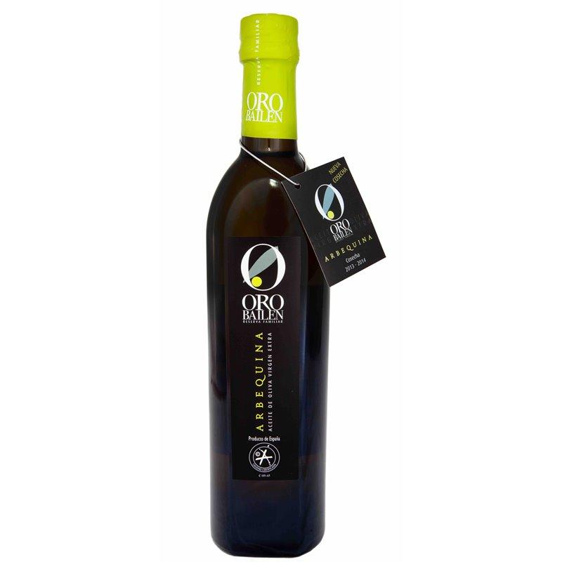 Oro Bailén Reserva Familiar Arbequina. Botella 500ml.