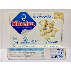 Berberechos al Natural 30/40 Ribeira Selección
