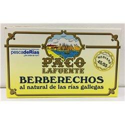 Berberechos al Natural de las Rias Gallegas Paco Lafuente