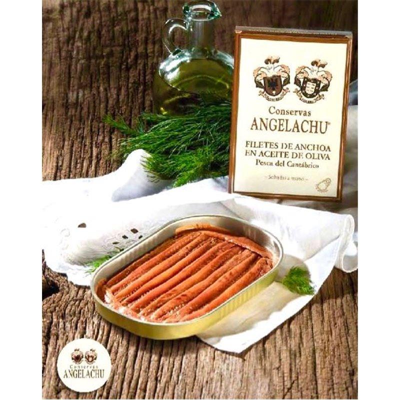 Anchoas de Santoña en Aceite de Oliva 115Gr Angelachu