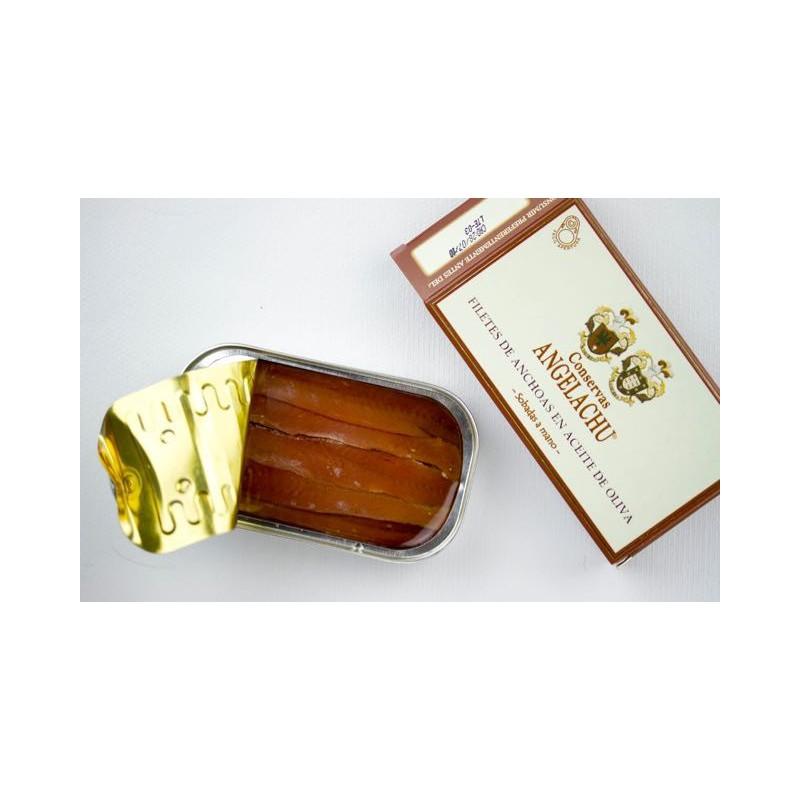 Anchoas de Santoña en Aceite de Oliva 50Gr Angelachu